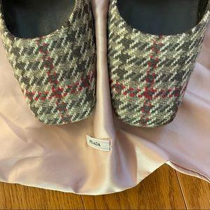 💥PRICE DROP💥 Prada tweed square toe heels